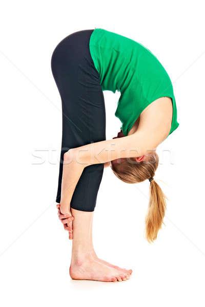 体操選手 孤立した 白 ファッション スポーツ ボディ ストックフォト © 26kot