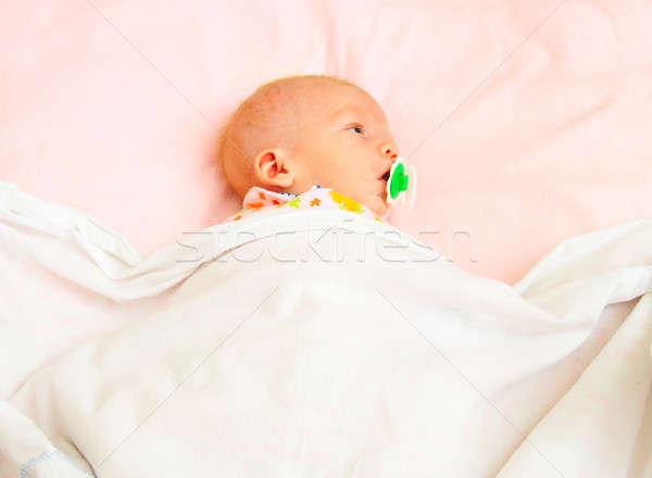 infant in blanket Stock photo © 26kot