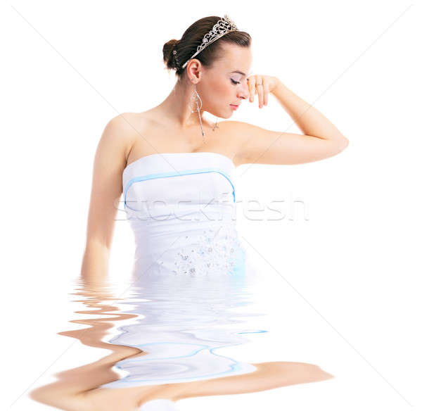 woman with diadem Stock photo © 26kot