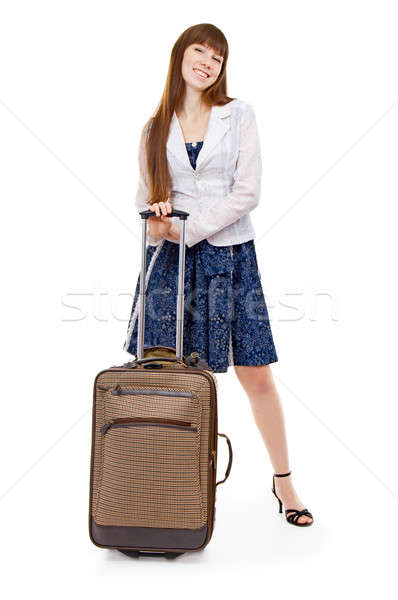 girl with valise Stock photo © 26kot