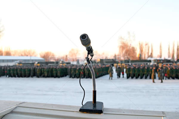 Wojskowych parada zimą grupy moc żołnierz Zdjęcia stock © 26kot