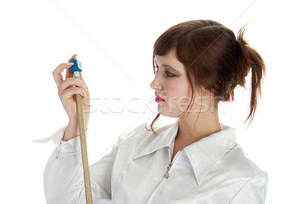 nice girl with cue Stock photo © 26kot