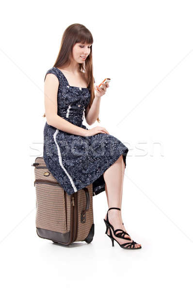 woman with valise Stock photo © 26kot