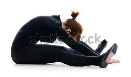 Tornász izolált fehér divat háttér szépség Stock fotó © 26kot