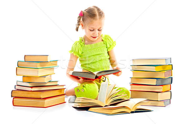 child with book Stock photo © 26kot