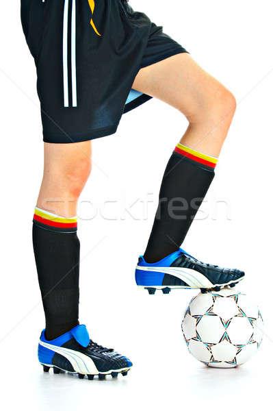 Futbolista pelota aislado blanco fútbol deporte Foto stock © 26kot