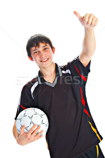 soccer player with ball Stock photo © 26kot