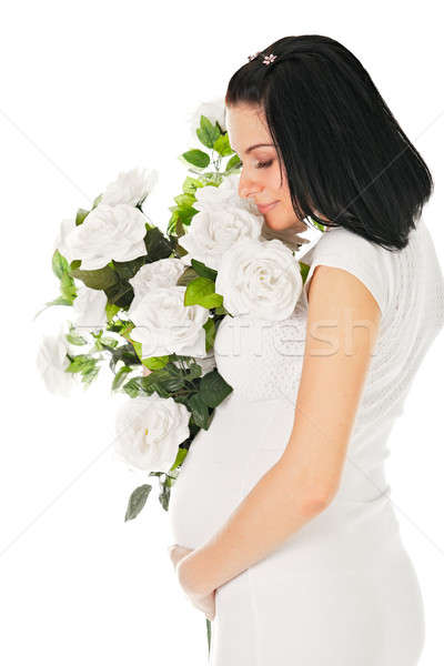 pregnant with roses  Stock photo © 26kot
