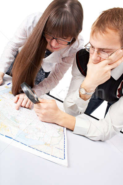 people with map Stock photo © 26kot