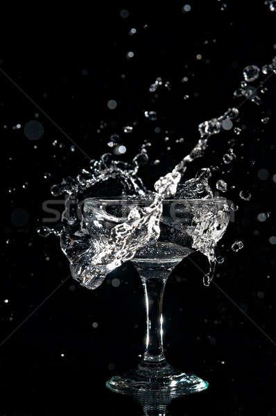 splashes  in goblet Stock photo © 26kot