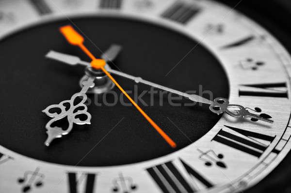 Reloj marcar monocromo fondo signo tiempo Foto stock © 26kot