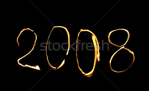2008 odizolowany czarny podpisania czerwony nowego Zdjęcia stock © 26kot