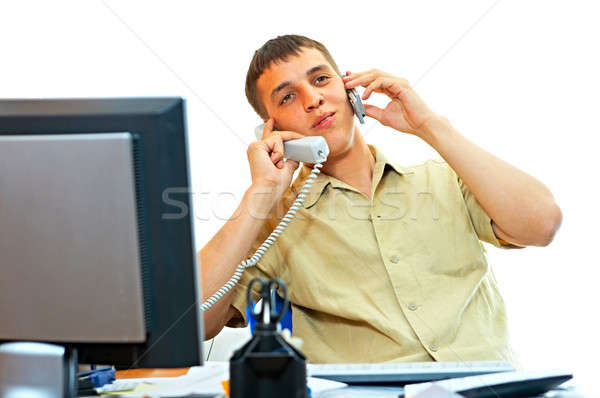 man with telephone Stock photo © 26kot