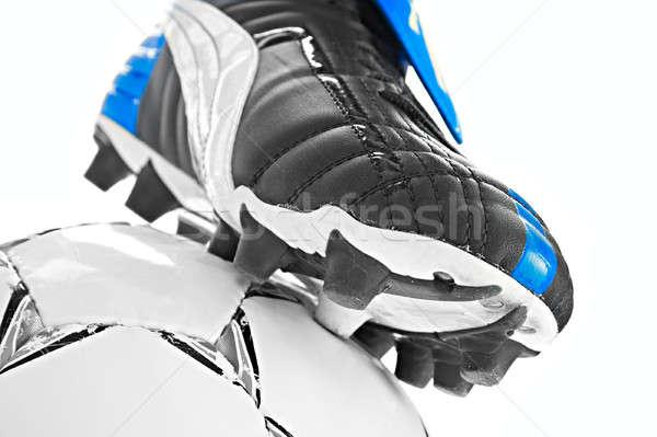 soccer footwear and ball Stock photo © 26kot