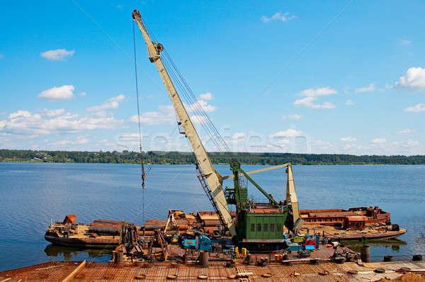 Gru fiume legno costruzione lavoro Foto d'archivio © 26kot