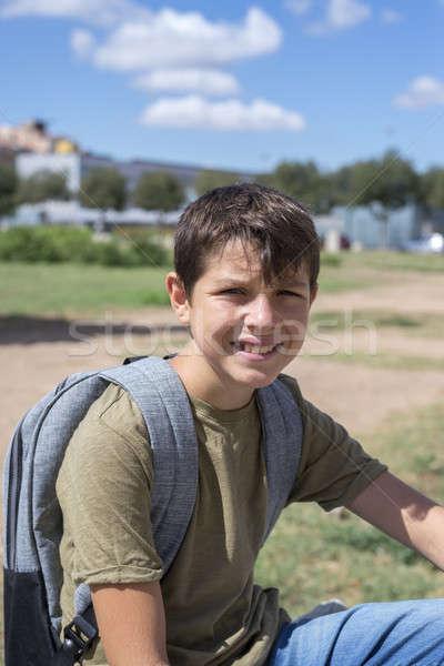 çocuk sırt çantası ayakta çanta Stok fotoğraf © 2Design
