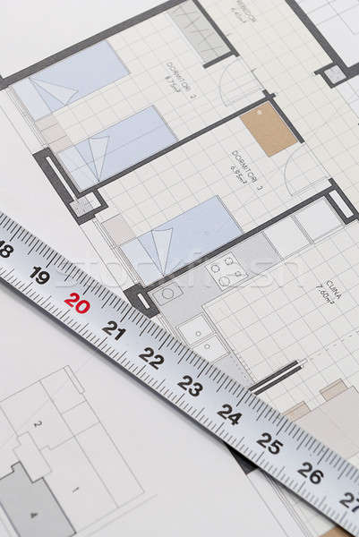 Architectural plan for building a house Stock photo © 2Design