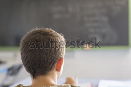 Estudante sala de aula lição diariamente dia Foto stock © 2Design