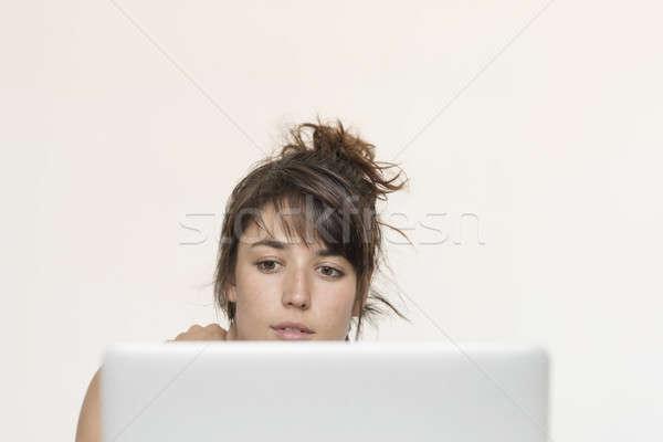 Сток-фото: молодые · довольно · запуска · работник · рабочих · домой