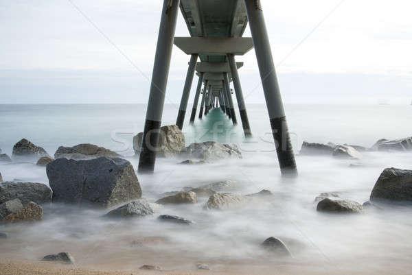 İspanya yer yürüyüş deniz su bulutlar Stok fotoğraf © 2Design