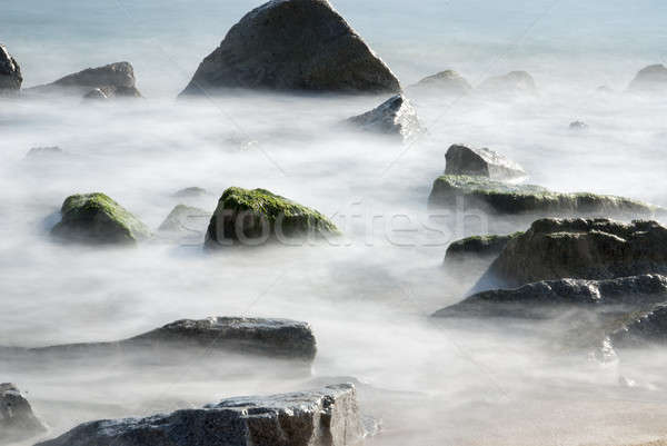 Rochas água beira-mar Espanha lugar caminhada Foto stock © 2Design