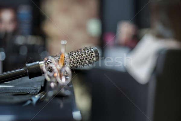 Kuaför araçları seçici odak makas salon Stok fotoğraf © 2Design