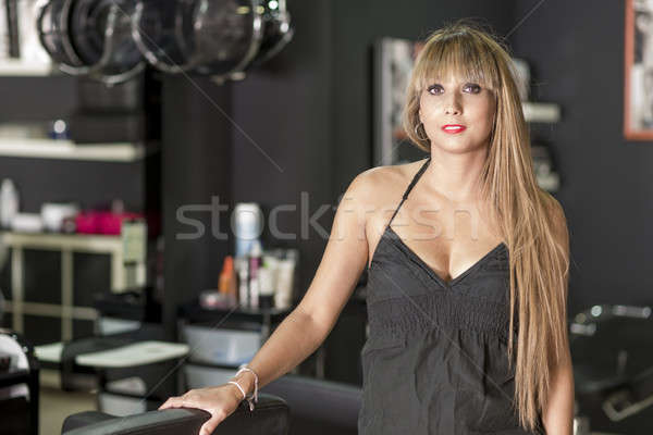 A female Hairdresser portrait ( looking confidence ) Stock photo © 2Design