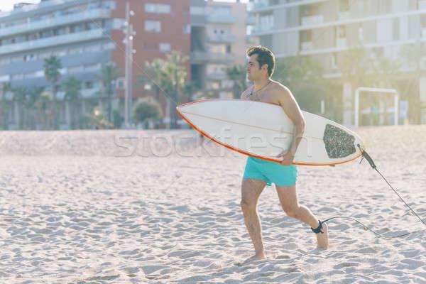 Plaj su spor sörf adam vücut Stok fotoğraf © 2Design