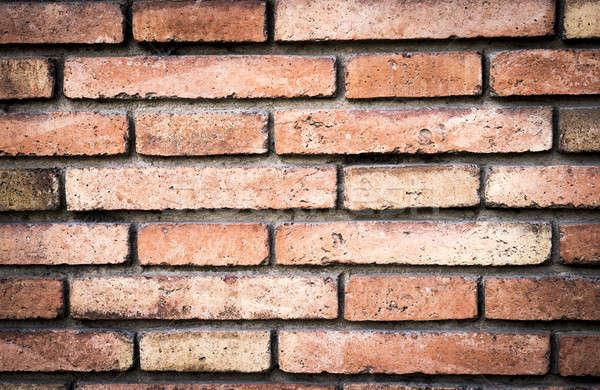 Tuğla duvar duvar doku turuncu kentsel kırmızı Stok fotoğraf © 2Design