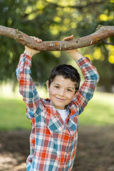 Portré lezser tini fiú kint arc Stock fotó © 2Design