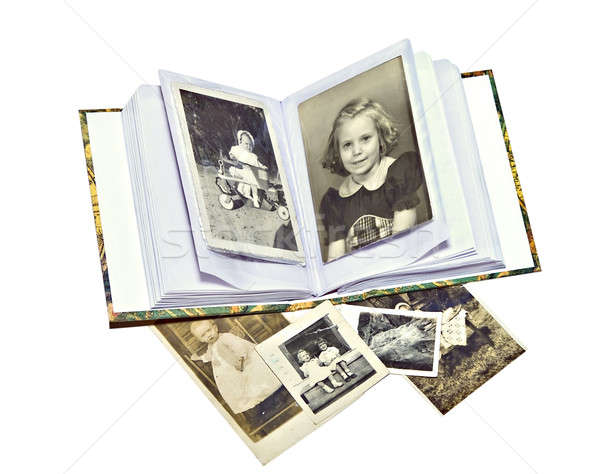 Old Family Photos and Book Stock photo © 2tun