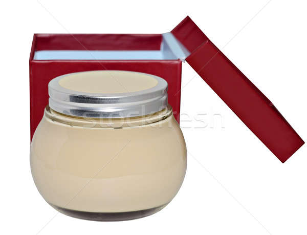 Stock photo:  Jar of Lotion on White