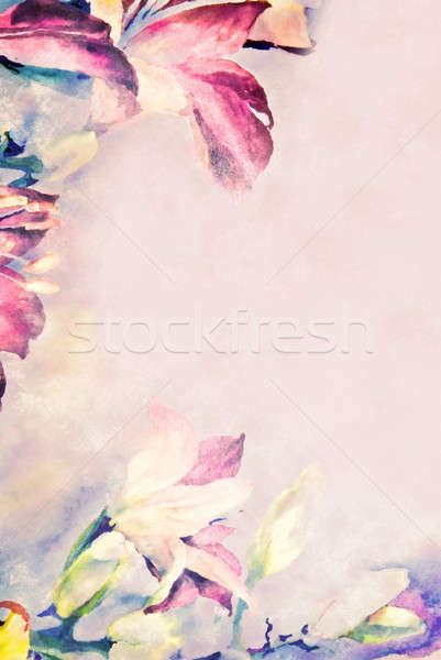 Pastel Flower Border Stock photo © 2tun
