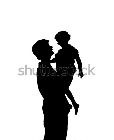 Silhouette Mother and Child Stock photo © 2tun