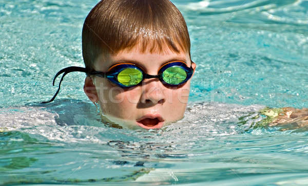 Stock photo: Close up of Boy Swimming