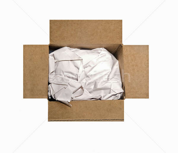 Empty Box With Packing Paper Stock photo © 2tun