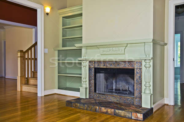Fireplace in a Room Stock photo © 2tun