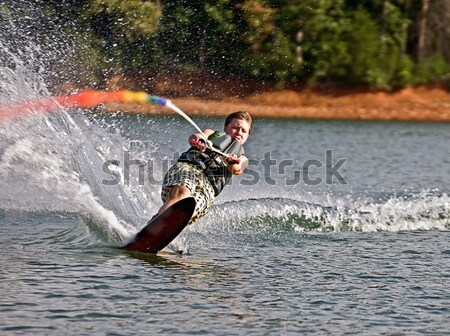 Young Slalom Skiier Stock photo © 2tun