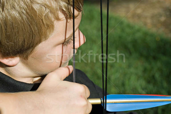 Close up of Boy with Bow and Arrow Stock photo © 2tun