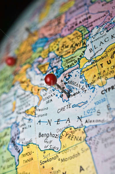 Map with Greece Pinpointed Stock photo © 2tun