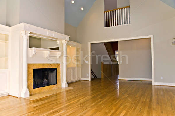 Modern Interior with Fireplace Stock photo © 2tun