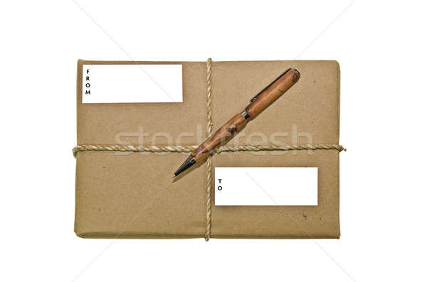 Package with Twine and a Pen Stock photo © 2tun