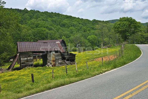 Old Barns on a Mountain Road Stock photo © 2tun