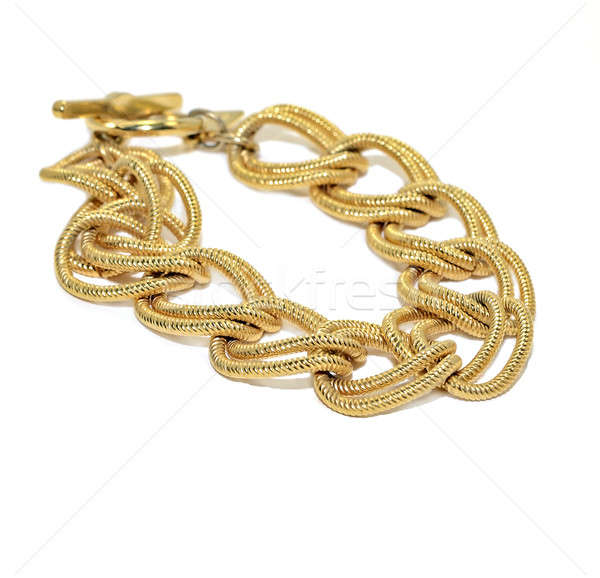 Stock photo: Gold Chain Bracelet