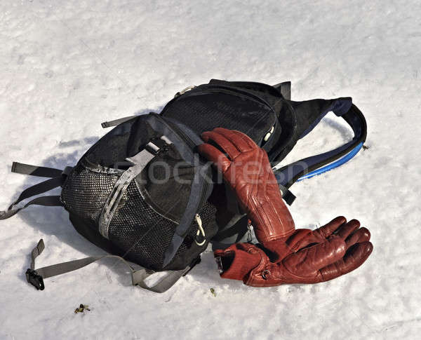 Backpack and Gloves in the Snow Stock photo © 2tun