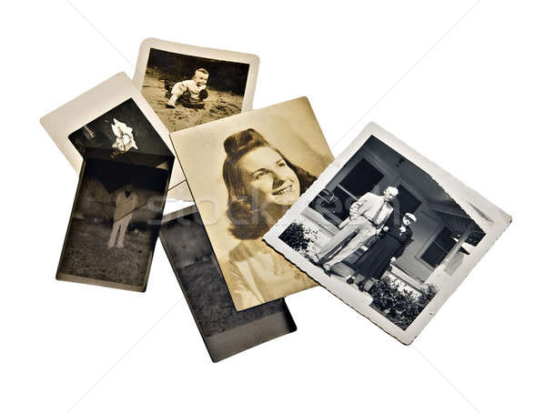 Stock photo: Old Family Photos and Negatives