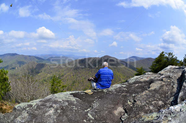 Man on Top of a Mountain Stock photo © 2tun