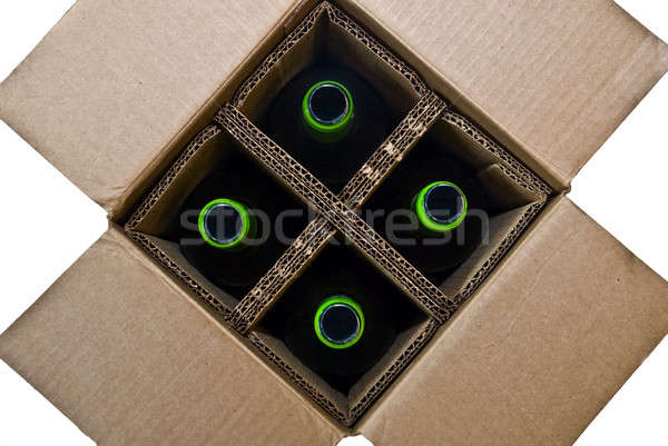 Cardboard Box with Bottles Stock photo © 2tun