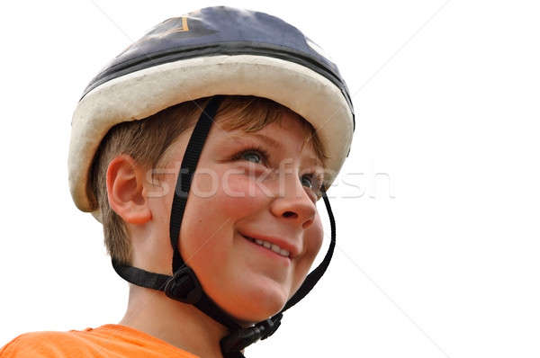 Young Boy With a Bicycle Helmet Stock photo © 2tun