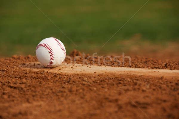 Baseball on the Pitchers Mound Stock photo © 33ft